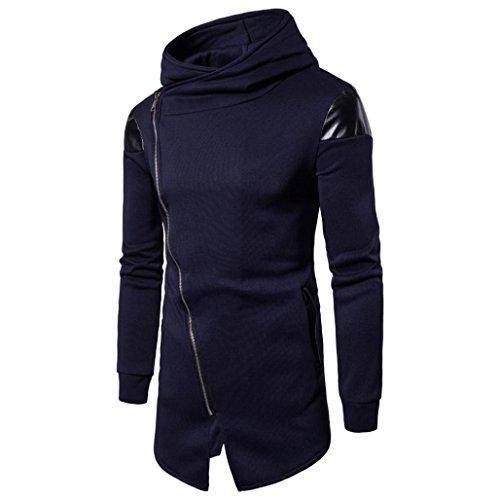 Ashop abbigliamento uomo, felpa uomo invernale, camicetta da uomo con cappuccio e felpa con cappuccio da uomo (xxl, blu navy)
