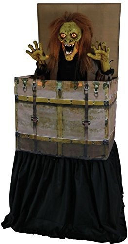 Fancy Me 1.2m M animiert Lichter Klingen Bewegung Erscheinen Boogeyman Jack in Schachtel Halloween Horror Gruselig Party Dekoration Requisite (Animierte Halloween Figuren)
