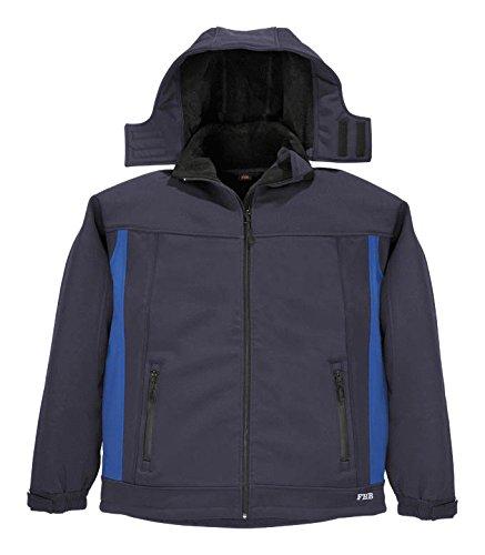 Giacca con cappuccio impermeabile per tutte le stagioni FHB 786 Blu