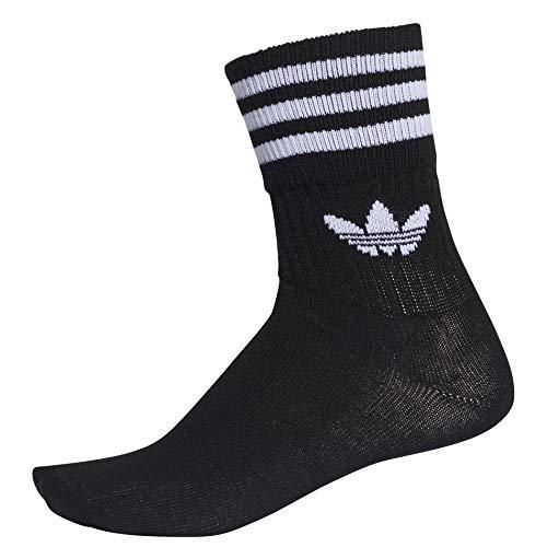 adidas Originals Socken Dreierpack MID CUT CRW SCK DX9092 Schwarz, Size:39/42