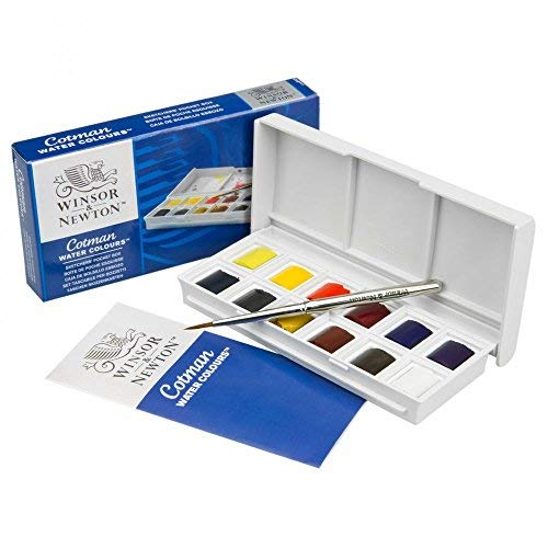 Winsor & newton cotman (compresi 1dell' artista qualità) watercolour sketchers pocket box di 12half pan