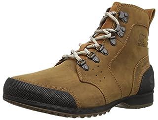 Sorel Men's ANKENY MID HIKER Boots, Brown (Elk)/Black, Size UK: 10 (B0775M8H3C) | Amazon price tracker / tracking, Amazon price history charts, Amazon price watches, Amazon price drop alerts