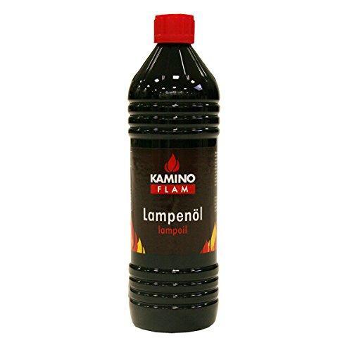 KaminoFlam Lampenöl neutral & geruchsfrei - 1l Gartenfackel Öl, reines, flüssiges Paraffin - Petroleum für Öllampen & Fackeln im Garten, unparfümiert