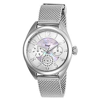 Invicta 27453 Angel Reloj para Mujer acero inoxidable Cuarzo Esfera plata