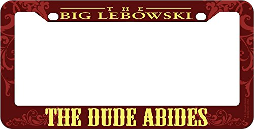 Preisvergleich Produktbild The Big Lebowski The Dude Abides License Plate Frame by The Big Lebowski