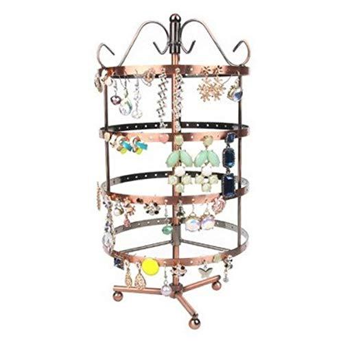 ZHAS Schmuck aufbewahrungsbox tragbare aufbewahrungsbox Hause Regal schmiedeeisen Ohrringe ausstellungsstand 30,5 * 15 cm -