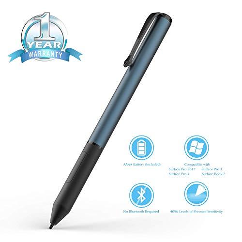 Ciscle Surface Pen 1,0 mm Hoche Präzision, mit Max 4096 Druckstufen, Rechtsklick und Radiergummi-Funktion, Kompatibel für Surface Pro 6, Surface Laptop, mit Deutscher Bedienungsanleitung (Navy Blau) -