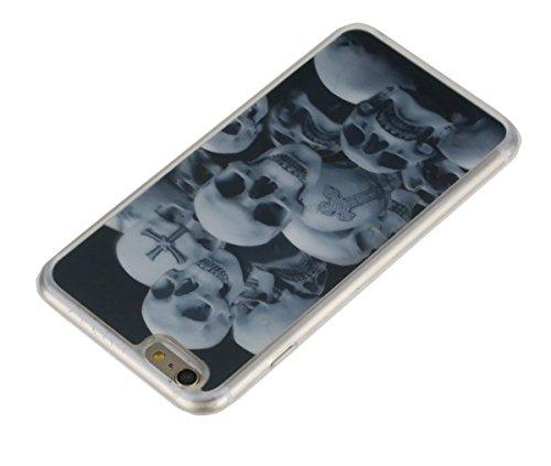 SainCat Coque Housse Apple iPhone 6,Design 3D Transparent Coque Silicone Etui Housse, iPhone 6S Silicone Case Soft Gel Cover Anti-Scratch Transparent Case TPU Cover,Fonction Support Protection Complèt monstre # 2