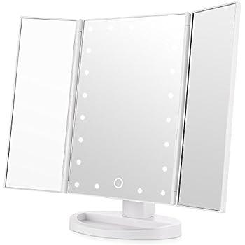 Easehold Tri Fold Illuminated Vanity Mirror 21pcs Led