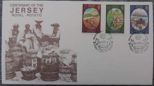 Jersey 1980 Jersey Royal Potato FDC 3 values (see scan, this is the cover you will receive) first day cover used mint JandRStamps -