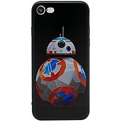 iPhone 5/5s 3D Star Wars Étui en Silicone/Coque de Gel pour Apple iPhone 5s 5 Se/Protecteur D'écran et Chiffon/iCHOOSE/BB-8