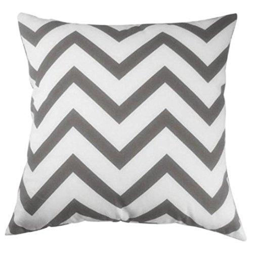 Sunnywill Home Auto Bett Sofa dekorative Wellenmuster Fall Kissen Kissenbezug (Gray)
