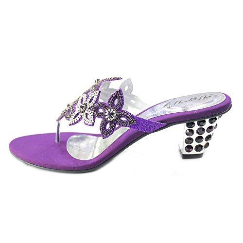 Wear & Walk UK , Damen Sandalen 36-42 Violett