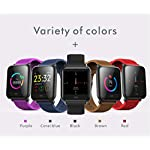 Jersh Smart Electronic WatchCalorie Blood Pressure Exercise Heart Rate Pedometer Smart Watch Application Push Pedometer Calorie Counter Bluetooth Smart Bracelet