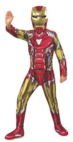 Ironman Kind Kostüm - Rubie's Offizielles Avengers Endgame Iron Man, klassisches Kinderkostüm, Größe L, Alter 8-10, Höhe 147 cm