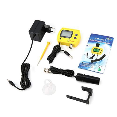 Tragbare Reinheit PH Temperatur Meter Digitale Wassertester Analyzer Tool Detektor für Biologie Labor Aquarium Aquarium (Farbe: Schwarz) Portable Audio-analyzer