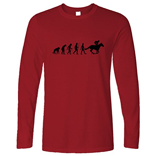 Tim And Ted Sport Langarmshirt Evolution of Reiten Reit Deep Red X-Large