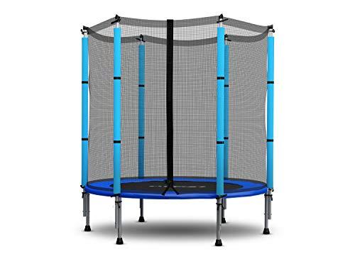 Neo-Sport Trampolin für Kinder mit Sicherheitsnetz 140 cm (4,5ft) Gartentrampolin