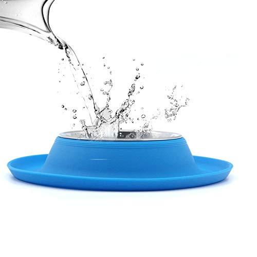 SuperDesign Napf mit hochwertiger Silikonmatte, geeignet für kleine Hunde oder Katzen, spülmaschinenfest und rutschfest,MEHRWEG Verpackung