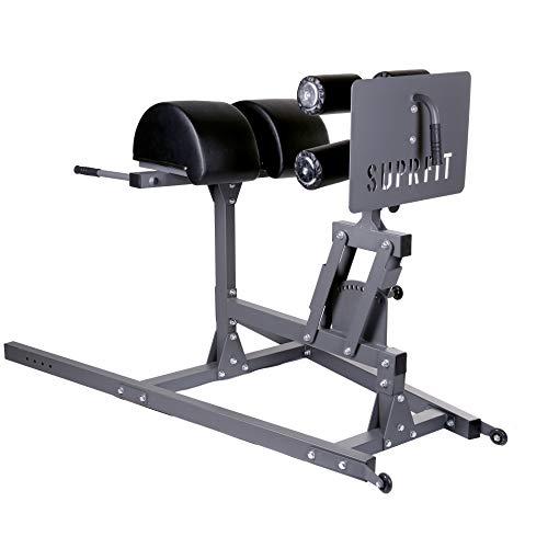 Suprfit Ariald GHD l Glute Ham Developer l Bauch und Rückentrainer l Roman Chair l Rückenstrecker l Fitnessgerät l aus robustem Stahl-Kantrohr l reißfeste und abwaschbare Polsterung l verstellbar