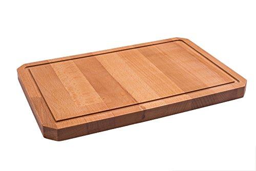 Traditionelle Holzprodukte - Tagliere realizzato a mano, 33 x 22 x 2 cm, in legno massiccio di faggio