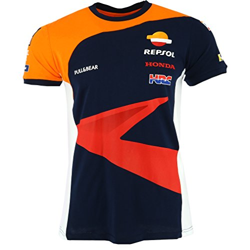 Pritelli 183850 Honda Repsol Moto Gp Teamwear Replica Panel Maglietta Ufficiale 2018, Multicolore, S
