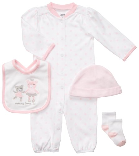 carters-4-piece-layette-set-pink-bears-japan-import