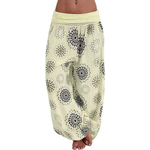KIMODO Damen Hosen Große Größen, Lose Drucken elastische lässig Harem Hose Sommer Länge Pumphose Freizeithose Pants