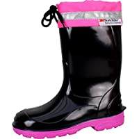 Bockstiegel LINUS Childrens - Rubber Boots with Reflective Strips (Kids Sizes: 22-35)