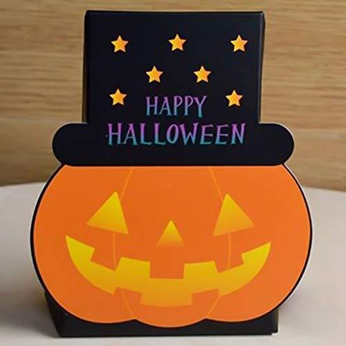 aiyinhuofen Halloween-Geschenktüte aus Papier, 5 Stück, Kürbis-Geist-Geschenktüten 1