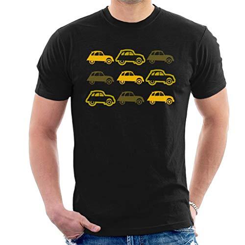 Citroën Vintage 2CV Pattern Men's T-Shirt, navy or black