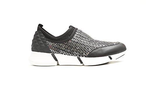 Pretty Nana Sneaker con paillettes Ryo 000899 Vitello+ tessuto colore Nero Nero