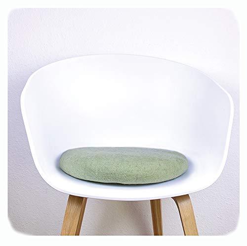 8-Natur Stuhlkissen aus 100% reinem Merinofilz für Designerstühle, Bänke und als Yogakissen (hell...