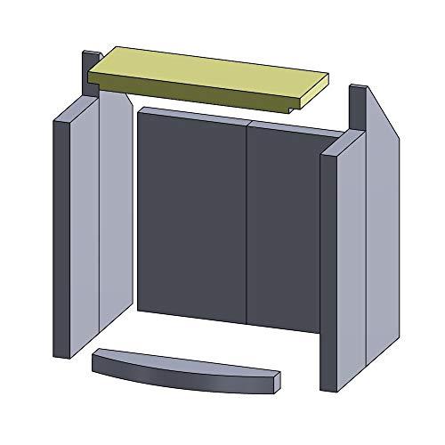 Flamado Heizgasumlenkplatte 380x135x30mm (Vermiculite)