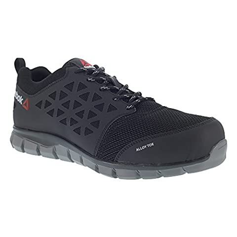 REEBOK WORK IB1031 S1P 42 Excel Light Athletic Safety Trainer Shoe, Aluminium toe, Micro Fibre and 3D mesh upper, Size 42,