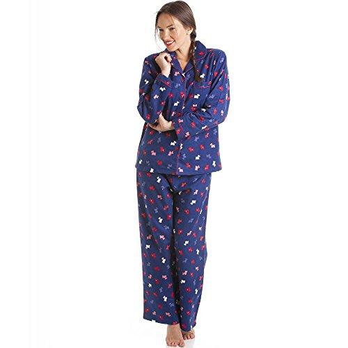 Muster Flanell-pyjama (Schlafanzug - Ärmel und Hose lang - 100 % Baumwolle/Flanell - Muster mit Hunden 46/48)