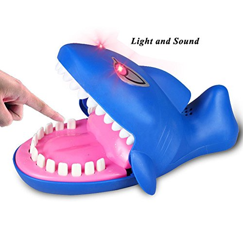 Cenblue Hai-Angriff Spiel Spielzeug - Hai lustige Spielzeug Sound Snapping Familie Herausforderung Spiel Kinder schieben Zähne Spielzeug Kunststoff Hai Biss Finger (Zähne Schlechte Lustige)