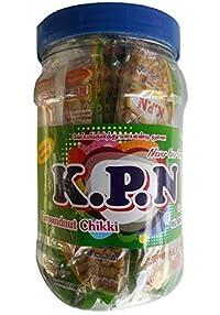 Kovilpatti Kadalai Mittai Chikki Candy 30 Pieces Jar (Rs. 6 * 30) - 600gm