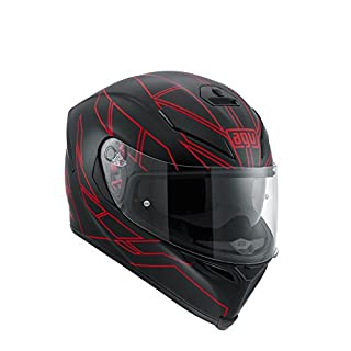AGV Motorradhelm K-5 S E2205 Multi, Hero Black/Red, Größe XS
