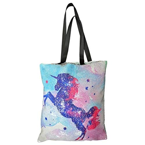 dfae9efbfd Reversible Sequin Unicorn Tote Bag Ladies Shopping Bags Gift Idea
