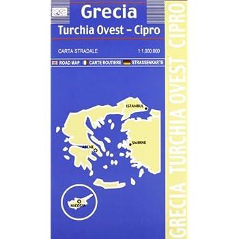 Grecia, Turchia Ovest, Cipro 1:1.000.000