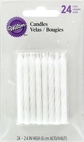 Wilton Geburtstagskerzen, 24 Stück, Weiß