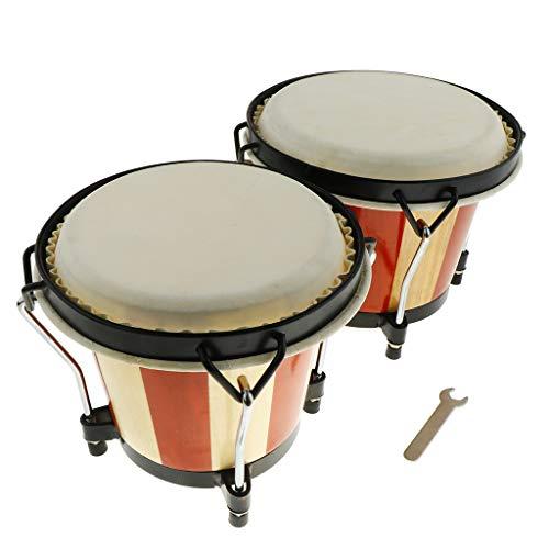 B Blesiya 1 Set Holz Bongo Hand Trommel Hand Schlagzeug Spielzeug Für Kinder