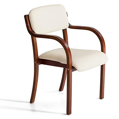 Cxq sedia moderna del computer di legno della sedia della sedia da ufficio della sedia da ufficio della sedia di studio della sedia da ufficio minimalista moderna (color : beige)