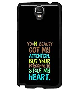 PrintVisa Designer Back Case Cover for Samsung Galaxy Note 3 Neo (your personality stole my heart)