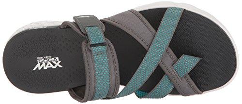 Infradito per donna Skechers modello tecnico colore nero con velcro Charcoal