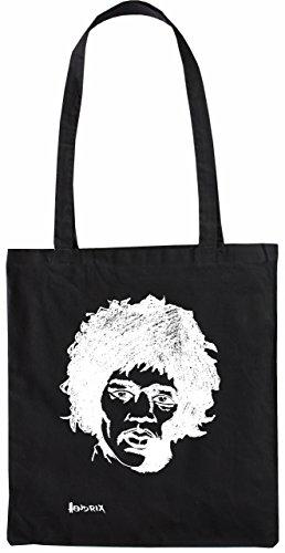 Mister Merchandise Tasche Jimi Hendrix Jimy Stofftasche , Farbe: Schwarz Schwarz