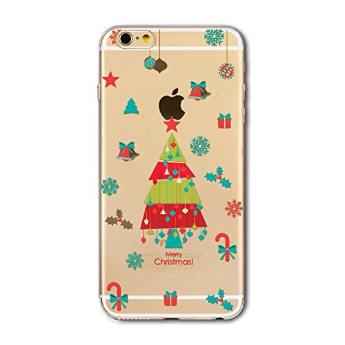Noël Coque iPhone 7 Plus / iPhone 8 Plus LifeePro Ultra Mince Transparent Doux TPU Gel Silicone Antichoc Anti-rayures Full Body Étui Housse de Protection Christmas Cover pour iPhone 7 Plus / iPhone 8  Colorful Christmas Tree