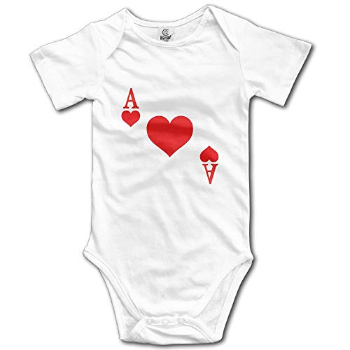 SDGSS Babybekleidung RED Heart of A Ace of Spades Poker Face Baby Onesie Bodysuit Carters 5 Pack Onesies