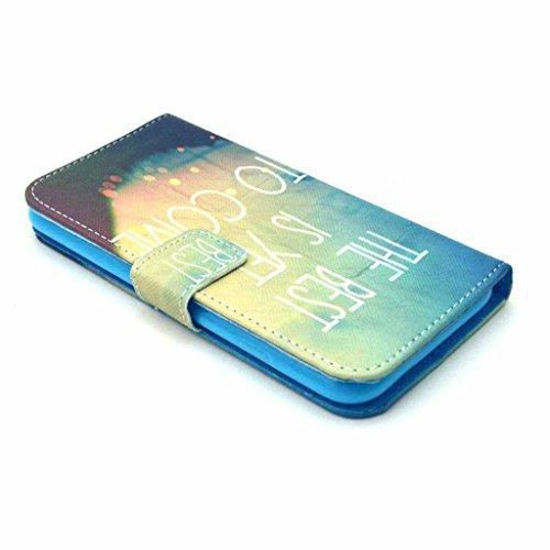 PowerQ Colorful Pattern Bunte Muster PU Etui Holster Reihe Hülle für IPhoneSE IPhone 5S SE 5G 5 IPhone5 IPhone5S Apple5S PU Tasche mit schönen Hübsches Muster drucken Drucken Zeichnung Wallet Geldbeut X-7